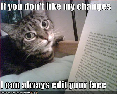 funny pictures cat threatens to edit your face Another had novelist Gay Talese trading tails with Richard Johnson and in ...