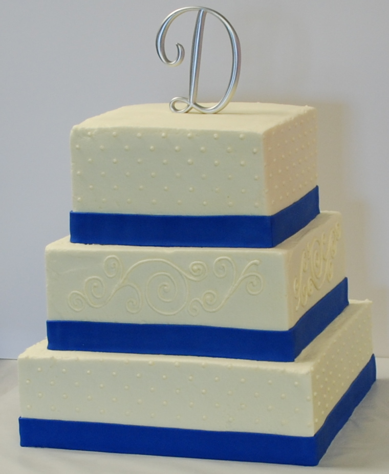 The Bakery Next Door: Blue & White Wedding Cake