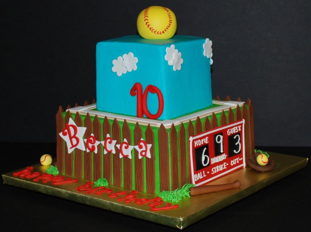 The Bakery Next Door Softball Birthday Cake