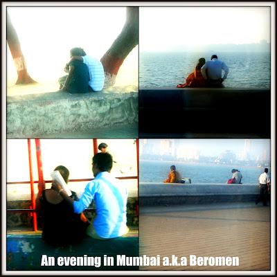 Di sepanjang tepi pantai Mumbai ini juga berpuluh-puluh couple ...