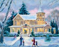 victorian christmas celebration scene
