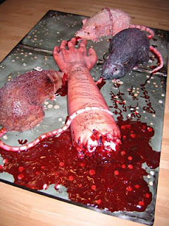 Killer Rat Cake for Halloween