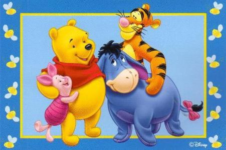 Winnie The Pooh Friendship Cards, Pooh Friends Group