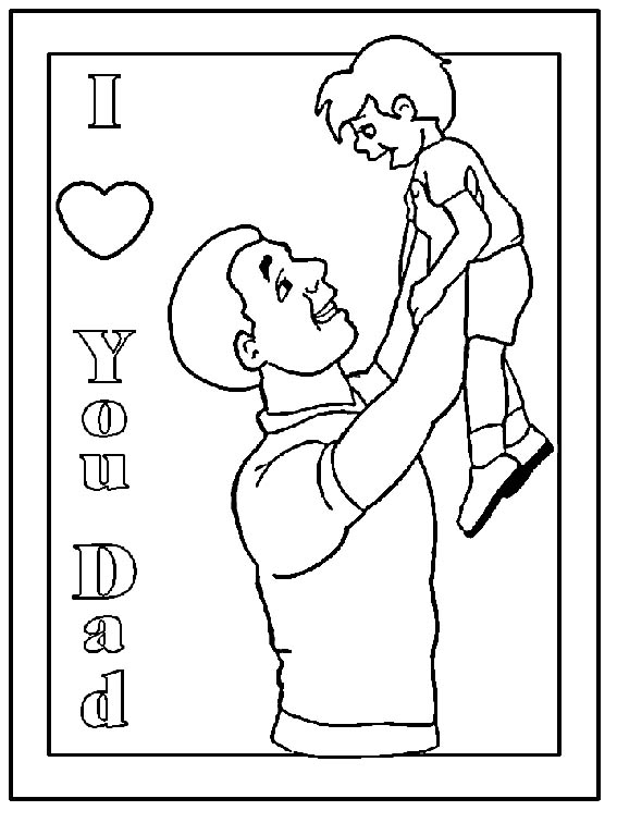fathers day color pages - fathers day cards