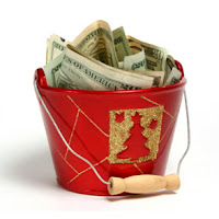 xmas charity cash basket