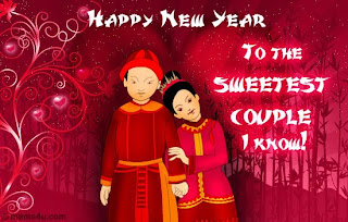 Chinese New Year Couple Cards