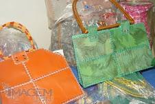Produto feito de material reciclável