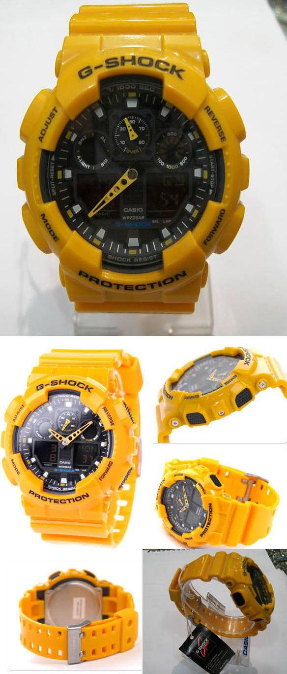 Jam Tangan Murah G Shock Ga 100a Yellow Casio