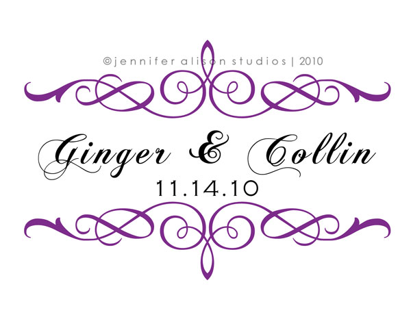 Ginger Collin Flourish Monogram 6 san diego graphic designer