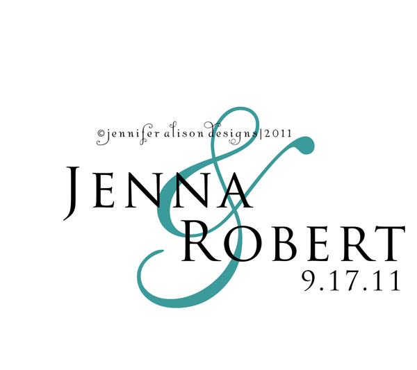 Jenna Robert custom wedding monogram designs