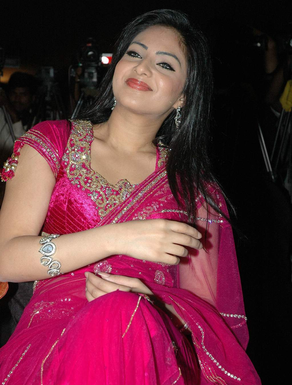 - tollywood-actress-nikeesha-patel-in-saree-blouse-photos-at-robo-trailers-launch_123actressphotosgallery.com_6