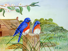 Blauwe vogels (te koop)
