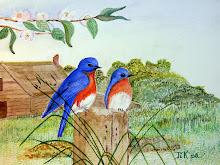 Blauwe vogels (te koop)