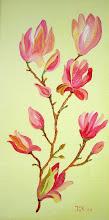 Magnolia Olieverf H2oil op doek