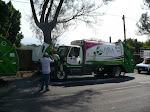 Camiones de PASA detenidos por el bloqueo  vecinal