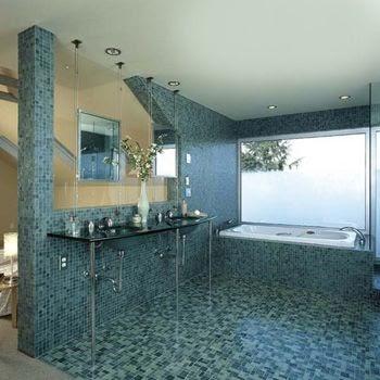 Espacios creados renovar el ba o con venecitas for Renovar azulejo bano concreto cera