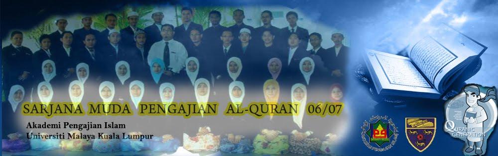 SARJANA MUDA PENDIDIKAN ISLAM (PENGAJIAN AL-QURAN)-PQ' 06/07-