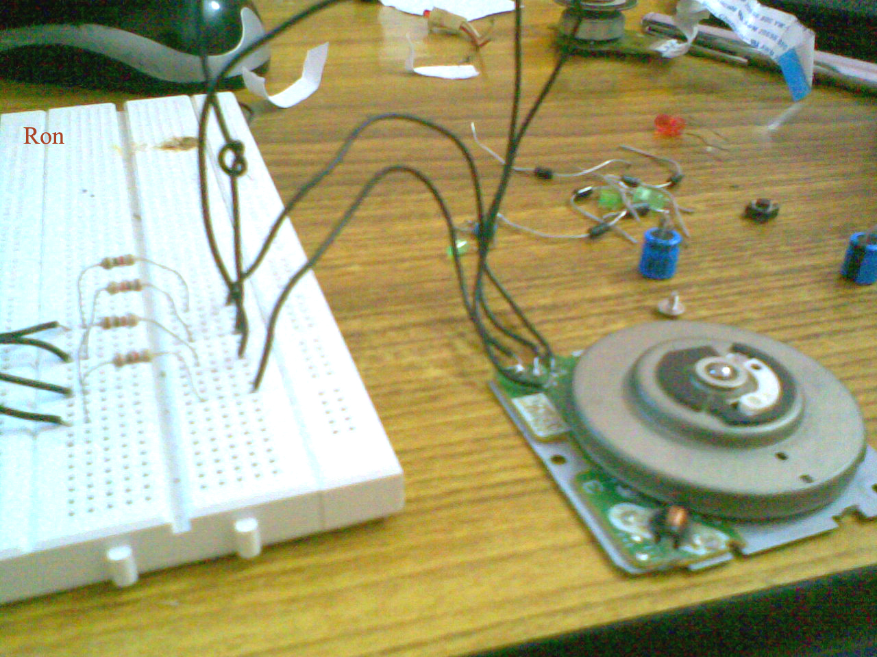 Rons Journey Into Engineering How To Use A Floppy Drive Stepper Motor Wiring The Can Be Then Run In Several Ways You Get Some Cheap Kits Or Boards From Store For Running Your Computer It