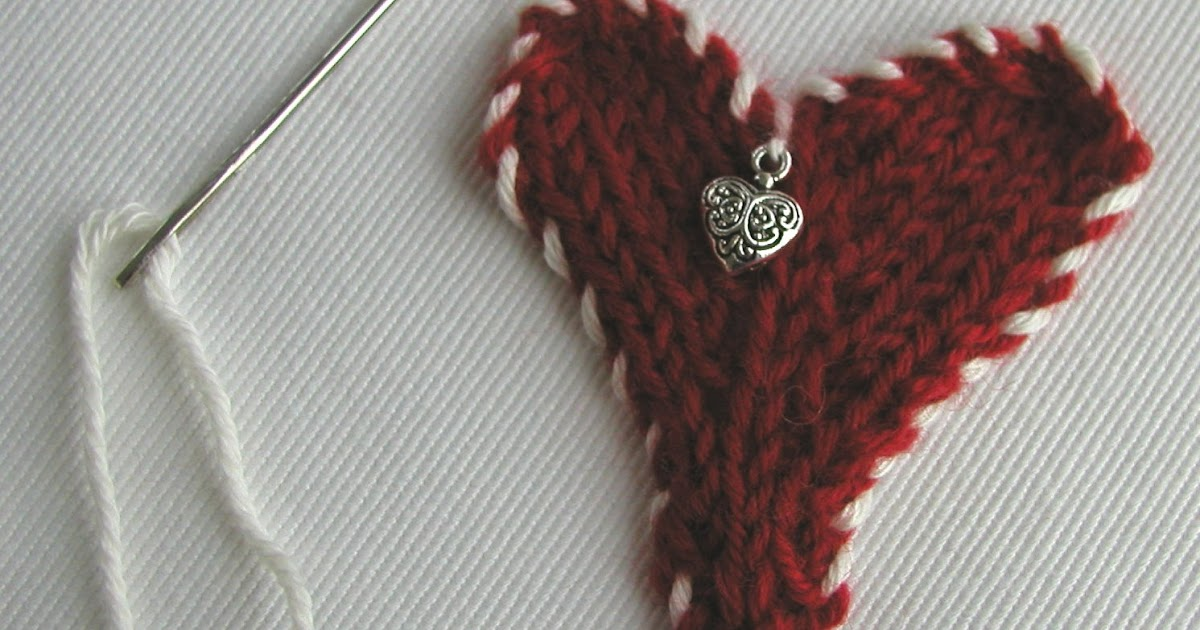 Hand Knitted Things: Knitted Valentine Heart Applique
