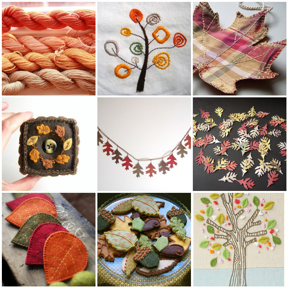 Hand knitted things handmade autumn mosaic for Handmade things