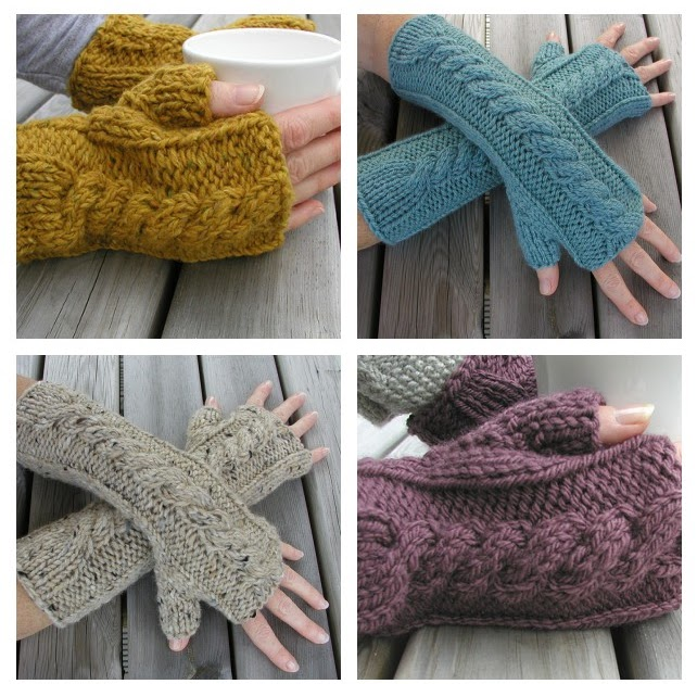 Hand Knitted Things: Weekend Fingerless Gloves Knitting Pattern