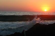 Ηλιοβασιλεμα στα ψαριανα νερα.