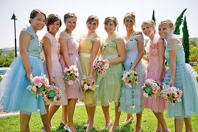 Cool Bridesmaid Dresses on Cool Colours