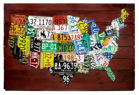 US Map From License Plates: Artistic, Expensive