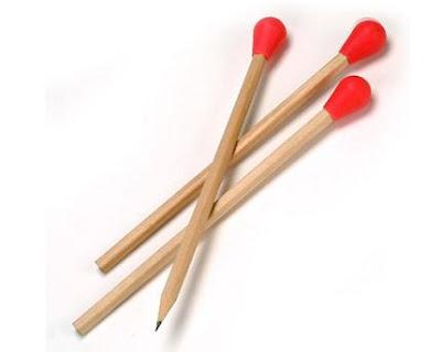 Oversized Matches Are Designer Pencils