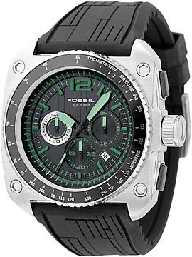 Green Dial Chronograph By Fossil