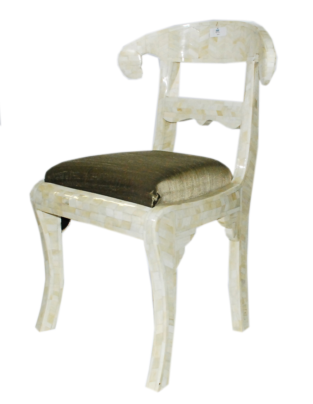 As Seen In The Current Issue Of Elle Decor  Bone Inlaid Chair