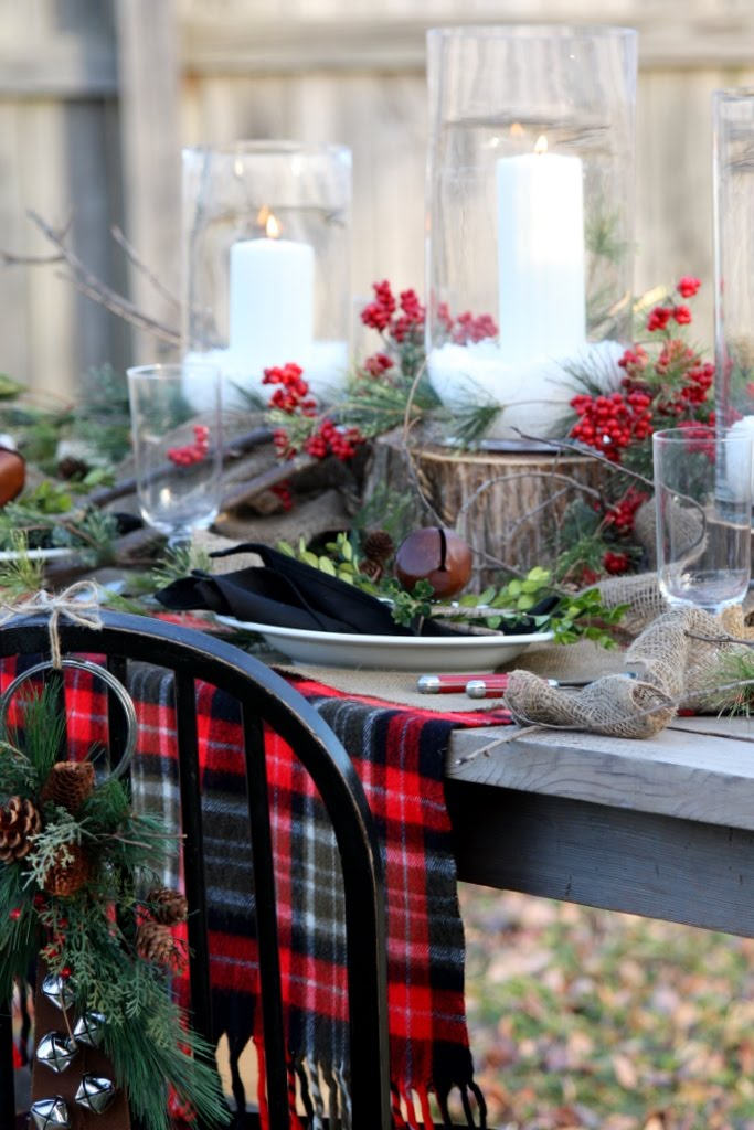 Natural Rustic Holiday Tablescape