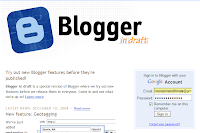 Login to Blogger in Draft
