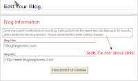 Submit your blog at BlogCatalog
