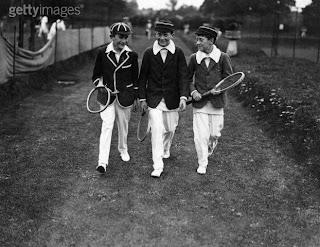 tenistas de principio del siglo pasado