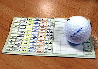 rarjeta de golf