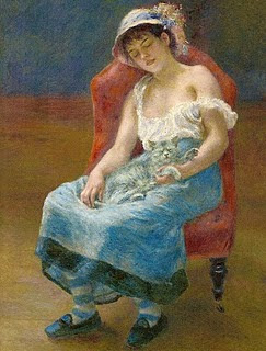 Muchacha dormida. Pierre-Auguste Renoir. 1880