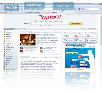 Mozilla Firefox Tabs Feature