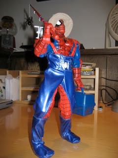 Coleção absurda de Spider-Man! Fishing+Spidey