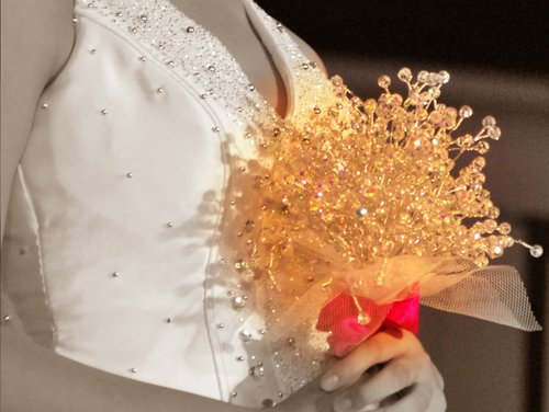 Wedding Bouquets With Feathers And Crystals : Once a bride weddings bridal bouquet crystal feathers