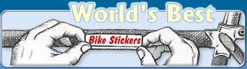 World&#39;s Best Bike Stickers