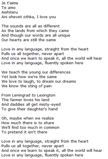 Musings from Debbie: Love in any language