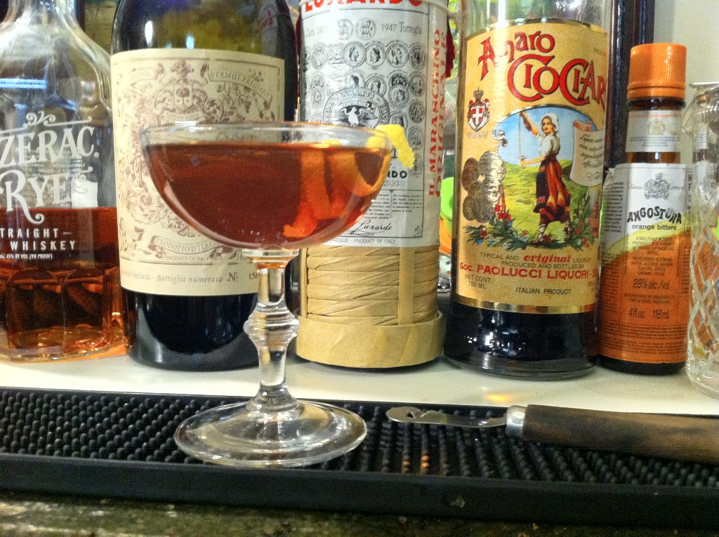 1/2 ounce (15 ml) Carpano Antica Sweet Vermouth