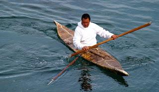 pagaia, arpione e kayak tradizionali Inuit