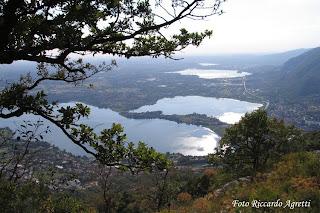 laghi briantei dal Monte Barro