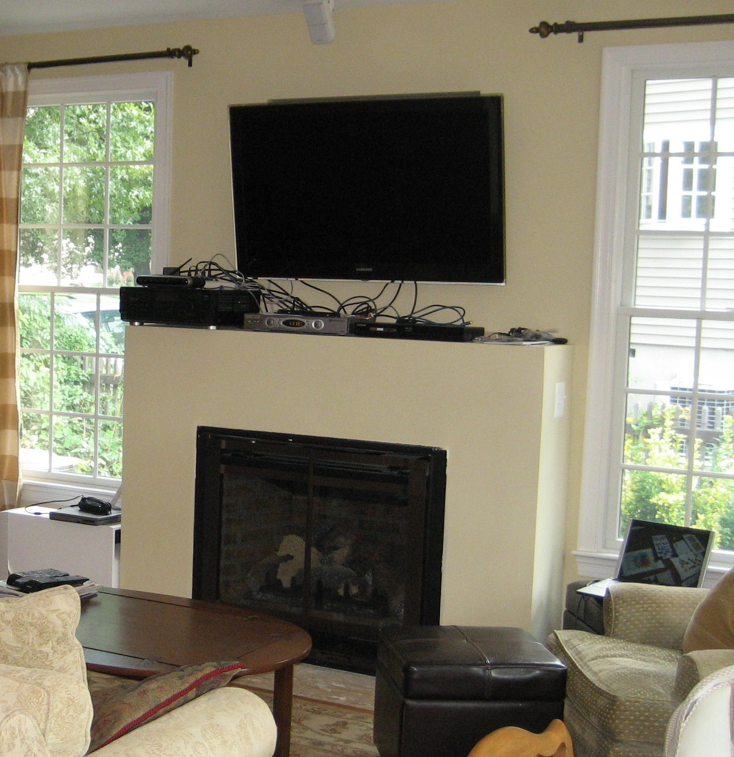 Remodelaholic | Fireplace Mantel Remodel with White Molding