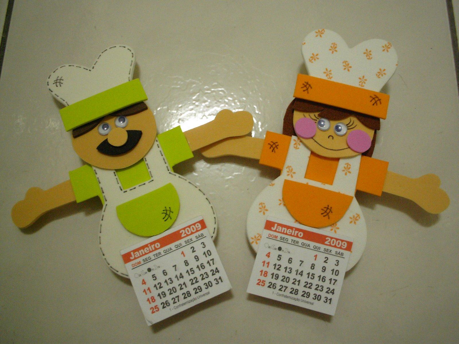 Pequeno rebanho calendario cozinheiro e cozinheira for Calendario manualidades