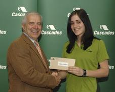 Valérie Lambert, récipiendaire de l'une des 17 bourses Cascades.