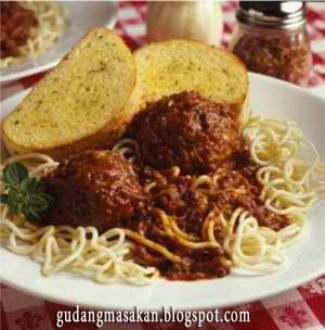 Resep Masakan Spaghetti Bola Daging