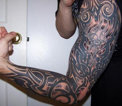half sleeve tattoos pictures. Tribal Half Sleeve Tattoos